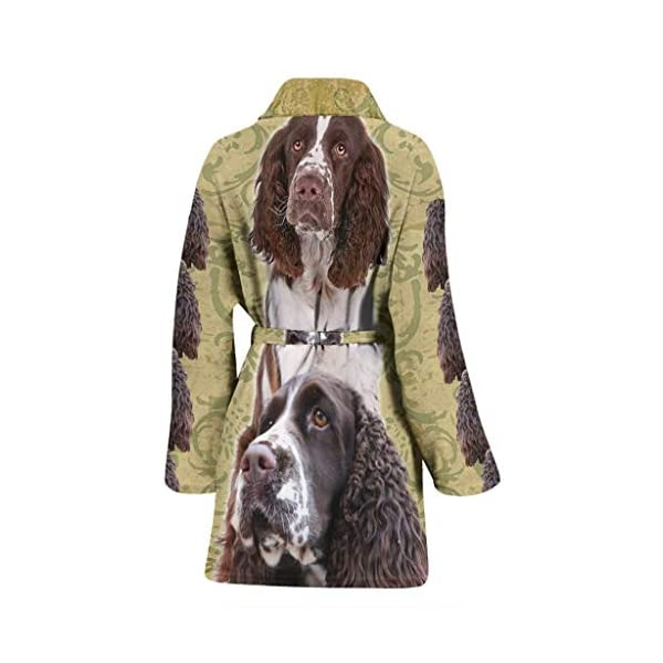 Breedink Cute English Springer Spaniel Print Women's Bath Robe 2