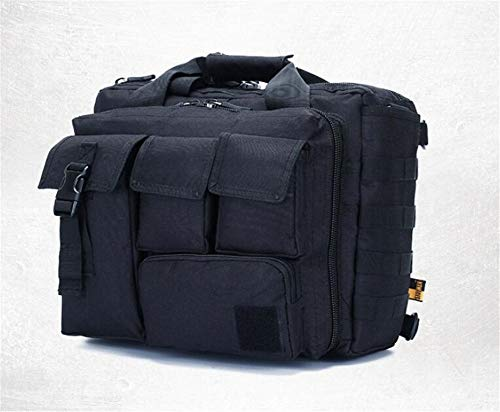Jaycel-Ginny Multifunctional Outdoor Computer Bag - Oxford Waterproof Tactical Shoulder Bag for Traveling, Camping, Trekking & Hiking,Black