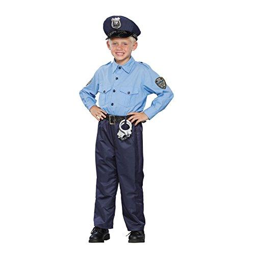[Seasons 196520 Deluxe Policeman Child Costume Size: Medium (8-10)] (Policeman Boys Costume)