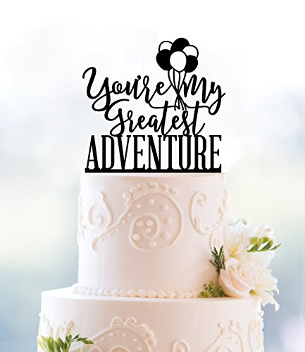 Up Greatest Adventure Up Themed Wedding Up Movie Balloon Cake Topper For Wedding Anniversary Gifts Wedding Party Favors Cake Toppers by Dikoum
