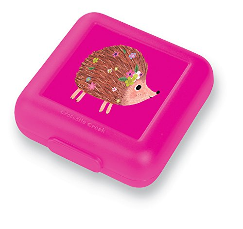 (Crocodile Creek Eco Kids Reusable Hedgehog Pink Girls' Sandwich Keeper Eco Kids Sandwich Keeper)
