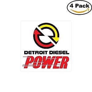 amazon com detroit diesel power logo decal vinyl sticker 4 stickers rh amazon com  detroit diesel logo autocad