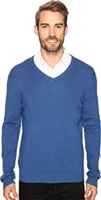 Calvin Klein Mens Cotton Modal V-Neck Sweater