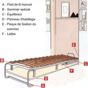 Pardo - Cama abatible vertical: Amazon.es: Bricolaje y ...