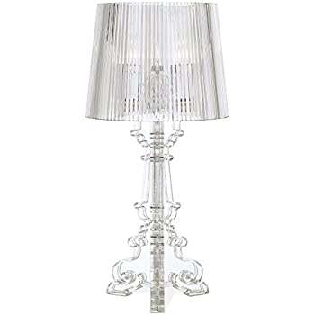 Baroque clear acrylic 20 high accent table lamp amazon baroque clear acrylic 20 high accent table lamp mozeypictures Gallery