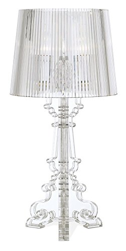 "Baroque Clear Acrylic 20"" High Accent Table Lamp"