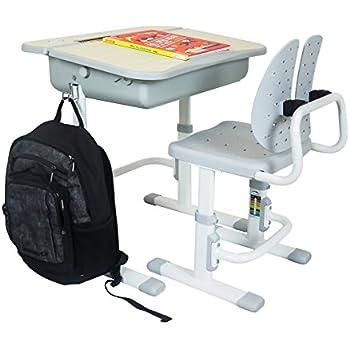 Ergonomic Adjustable Height Student School Desk 26.5 In. Wide X 21 In. Deep