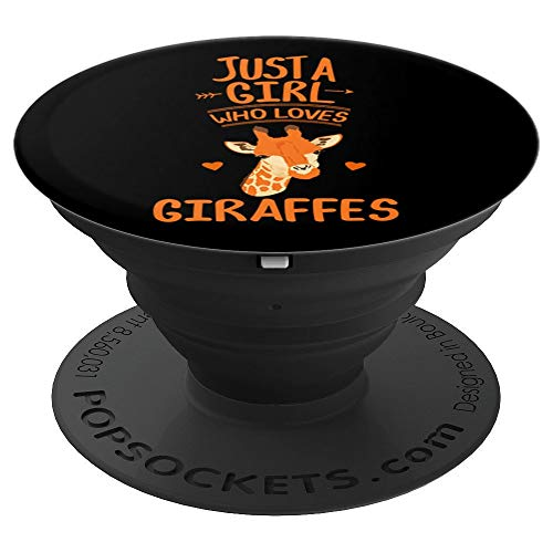 Girl Loves Giraffe Clothes Outfit Quote Stuff Africa Women PopSockets Grip and Stand for Phones and Tablets