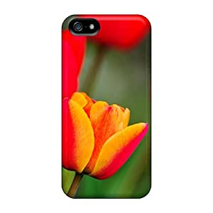 Tpu Shockproof/dirt-proof Warm Colored Tulips Cover Case For Iphone(5/5s)