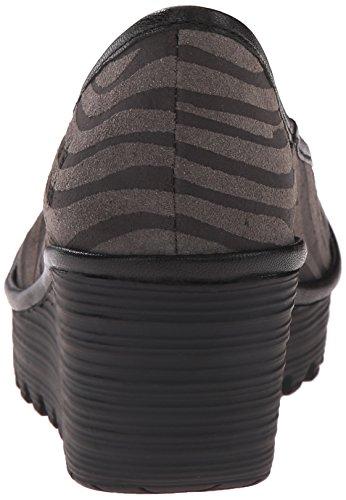 Black Zebra Grey Women's London Pump Yalu Fly Wedge qv0aPz4w