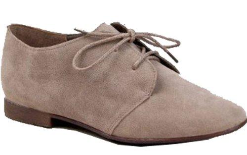 Breckelles Classic Dark M Lace 6 Up US B B Oxford Basic US SANDY Flat M 6 Taupe Shoe 31 rqtrA