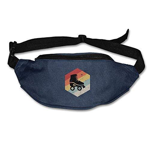 Spanwell Unisex Waist Pack Retro Skateboard Flat Fanny Bag Pack For ort Travel
