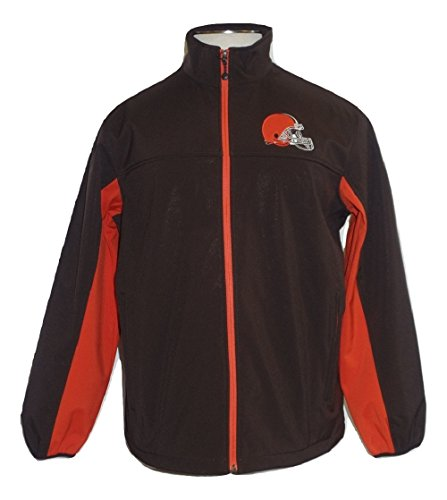 Licensed Sports Apparel Cleveland Browns Men's Brown Team Softshell Full-Zip Jacket - Large ()