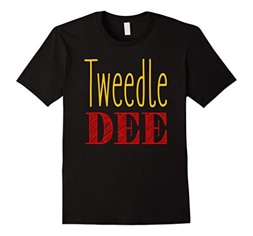 Mens Tweedle Dee T-Shirt Halloween Costume Tee XL Black