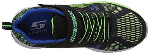 Skechers Jungen Erupters II Sneaker Schwarz (Black/blue/lime Bblm)