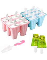 Popsicle Molds 12pieces Silicone Ice Pop Out Molds BPA Free Reusable Easy Releasing Ice Pop Maker Pack of 2 Ice Pop Molds with Popsicle Sticks,Cleaning Tool