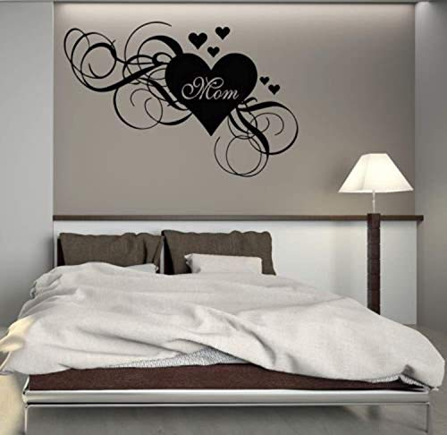 Mum Heart Love Mothers Day Family Mom Stickers Wall Decals Decor Vinyl Sticker SK10431 ()