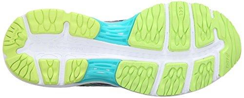 Asics Gel-Cumulus 18Zapatilla de Running de la mujer Asics Blue/Silver/Safety Yellow