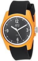 40Nine Women's 'Basic' Quartz Plastic and Silicone Casual Watch, Color:Black (Model: 40N2.6L)