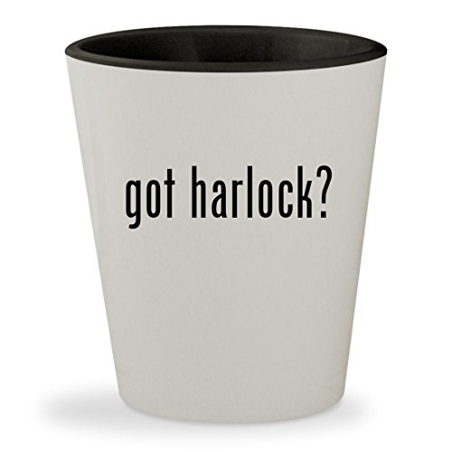 Space Pirate Captain Harlock Costume (got harlock? - White Outer & Black Inner Ceramic 1.5oz Shot Glass)