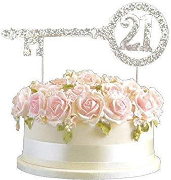 Peachy Rhinestone Crystal Birthday Anniversary Cake Topper Number Pick Personalised Birthday Cards Arneslily Jamesorg