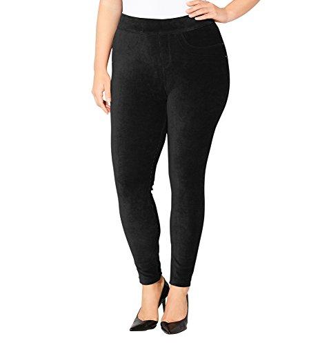 Avenue Women's Ribbed Velour Legging, 22/24 Black