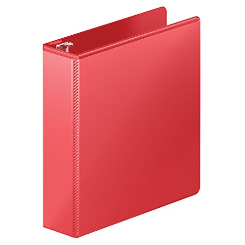 Wilson Jones Heavy Duty Round Ring View Binder with Extra Durable Hinge, 2 Inch, Customizable, Red -