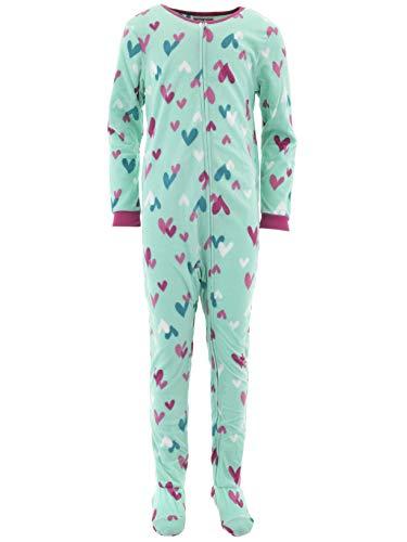 Komar Kids Girls' Big Plush Velour Fleece Footed Blanket Sle