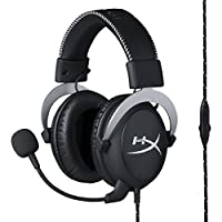 HyperX Cloud Pro Gaming Headset - Silver - with In-Line Audio Control for PS4, Xbox One, and PC (HX-HSCL-SR/NA)