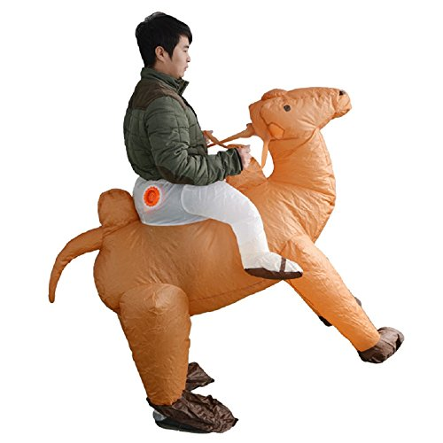 Inflatable Costume Men Ride Camel for Adult Christmas Animal Funny Dress (Adult Brown Camel)