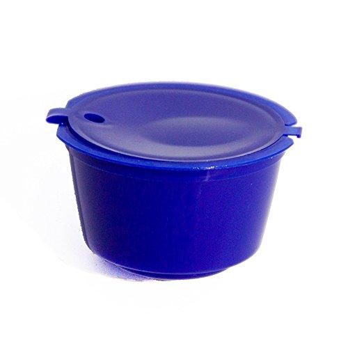 Filtro de cápsulas de café, 10 colores de cápsulas de café recargables y reutilizables, soporte adaptador de cápsula...