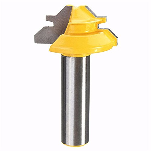 UPC 637482596730, Small Lock Miter Router Bit 45° 1/2 Inch Shank Tenon Cutter for Woodworking