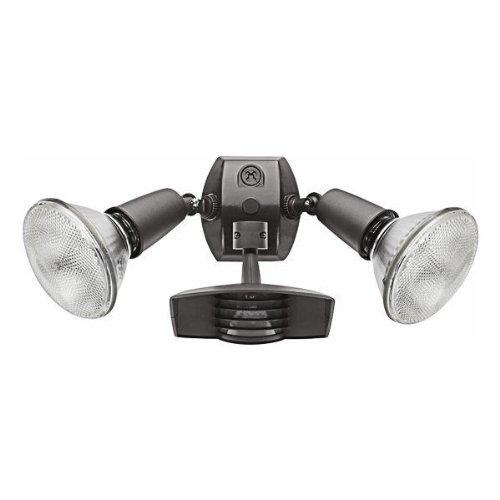 Cheap RAB Lighting STL110R Stealth 110 Sensor with Twin Die Cast R90 PAR-38 Floods, Aluminum, 110 Degrees View Detection, 1000W Power, 120V, Bronze Color