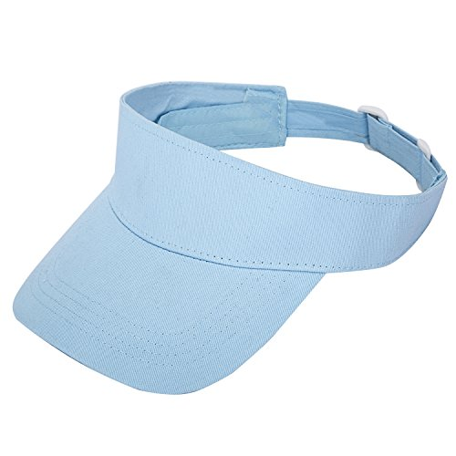 TARTINY Unisex Premium Visor Cap - Lightweight & Comfortable Sun Protector Hat - Ideal For Sports & Outdoor Activities - Stylish & Elegant Design For Everyone(Light Blue) (Sun Visor Cap Sports)