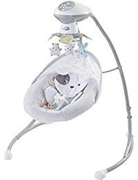 Fisher-Price Sweet Snugapuppy Dreams Cradle 'n Swing, White BOBEBE Online Baby Store From New York to Miami and Los Angeles