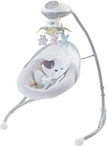 Fisher-Price Sweet Snugapuppy Dreams Cradle 'n Swing, White