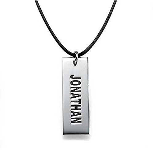 FUJIN Personalized 925 Sterling Silver Justin Bieber Style Dog Tag Necklace Custom Made with Any Name (Silver) (Justin Bieber Dog Tag Keychain)