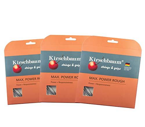 Kirschbaum Max Power Rough Savers Pack X3 Sets Max Power Rough 125/17G Tennis String -Silver Grey