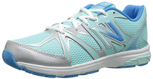 New Balance KJ697 Youth Lace Up Running Shoe (Little Kid/Big Kid) Blue/SILVER