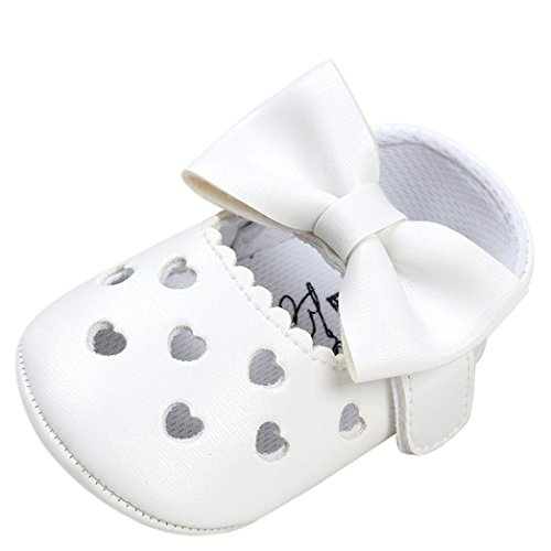 Ouneed® Krabbel schuhe , Baby Girl Hollow Out Bowknot Shoe Casual Shoes Sneaker Anti-slip Soft Shoes Weiß