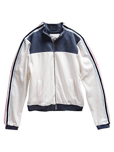 maddie Big Girls' Retro Tracksuit Zip Sweatshirt, Blue, X-Large (Retro Jumper)