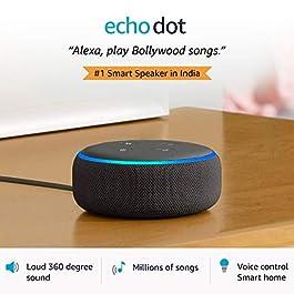 Echo Dot (3rd Gen) – #1 smart speaker brand in India with Alexa (Black)