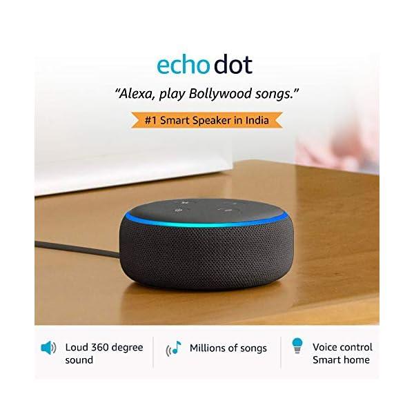 41NnaLXlzwL Echo Dot (Black) Combo with Wipro 9W LED Smart Color Bulb - Smart Home Starter Kit