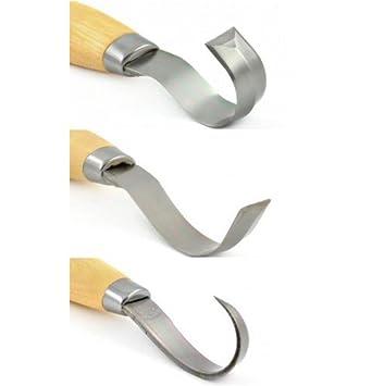 Mora stainless steel hooked bowl spoon wood carving