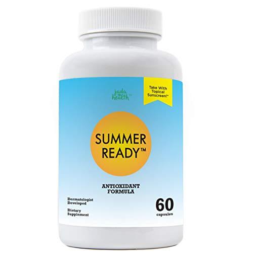 Summer Ready Supplement - Polypodium Leucotomos 480mg & Nicotinamide 500mg (Vitamin B3) - Patent Pending Antioxidant Rich Formula ()