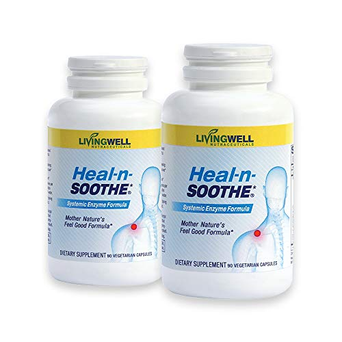 HEAL-N-SOOTHE 180 Count Two Pack Pain Relief Anti Inflammatory Supplement Proteolytic Enzyme Joint Pain Relief Natural Pain Relief Joint Supplements