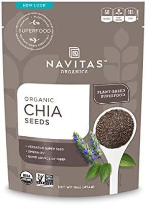 Navitas Organics Chia Seeds, 16 oz. Bag — Organic, Non-GMO, Gluten-Free