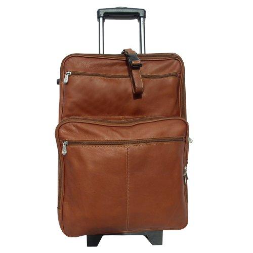 Piel Leather 22 Inch Wheeled Traveler, Saddle, One Size (22 Wheeled Traveler)