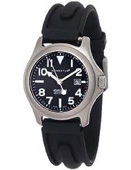 Momentum Womens 1M-SP01B1 Atlas Black Dial Black SLK Rubber Watch