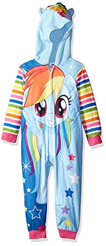 My Little Pony The Movie Rainbow Dash Magical Dream Big Girls Hooded Pajama Sleeper (Large, -